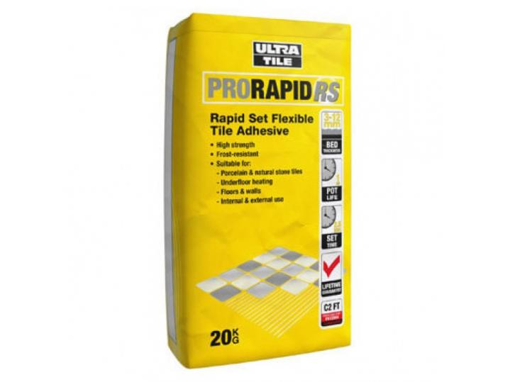 Ultra RS20 Grey Tile Adhesive 20kg image
