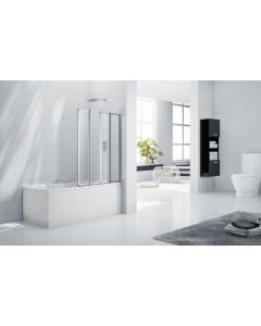1500 x 1200mm 4 Fold Bath Screen