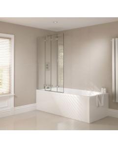 Prestige Frameless 4 Fold Bath Screen