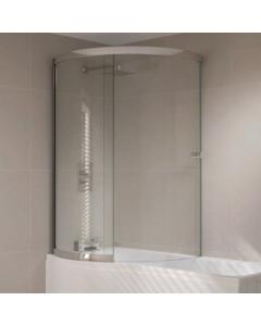 Prestige P Shaped Sliding Bath Screen