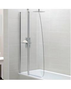 Identiti Fixed Panel Sail Bath Screen with Shelf