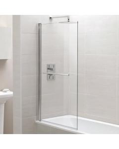 Identiti Square Single Bath Screen with Towel Rail