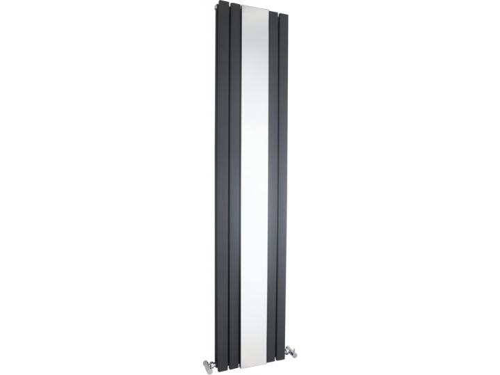 Sloane Double Panel Designer Radiator with Mirror 1800x381mm - Anthracite image