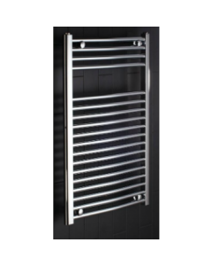 Curved 1100 x 600 Central Heating Towel Warmer