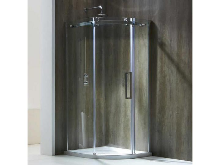 Aquaglass+ Frameless 1 Door Quad Shower Enclosure image