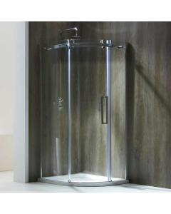 Aquaglass+ Frameless 1 Door Quad Shower Enclosure