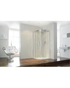 Aquaglass+ Frameless 2 Door Quad Shower Enclosure