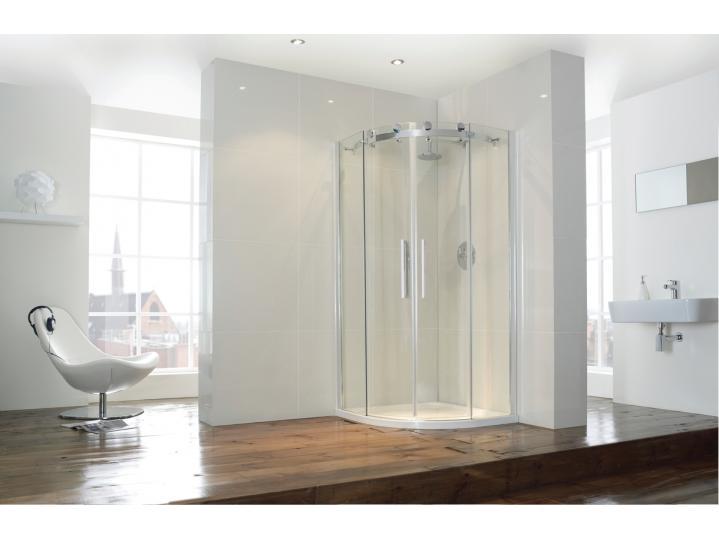 Aquaglass+ Frameless 2 Door Quad Shower Enclosure image
