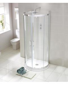 Aquaglass Purity 'D' Shaped Quad Shower Enclosure