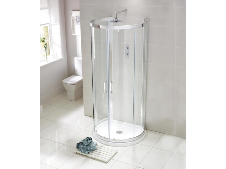 Aquaglass Purity 'D' Shaped Quad Shower Enclosure image