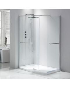 Aquaglass Purity Curved Walk-In Shower Enclosure Including Dedicated Tray