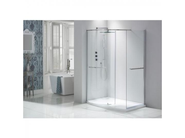 Aquaglass Purity Closing Walk-In Shower Enclosure Including Dedicated Tray image