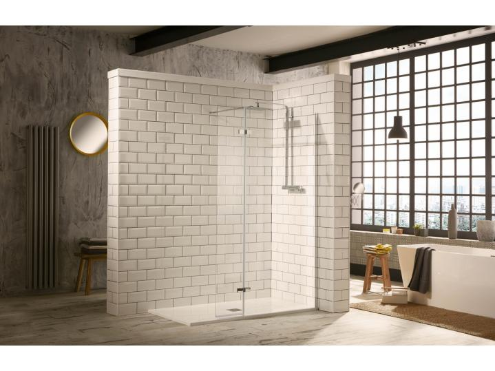 Aquaglass Hinged Flipper Walk-In Shower Enclosure image