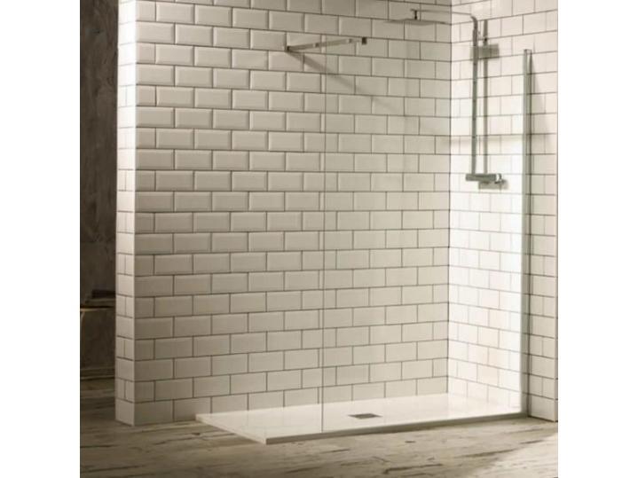 Aquaglass+ Walk-In Shower Enclosure Including Stabilising Bar image