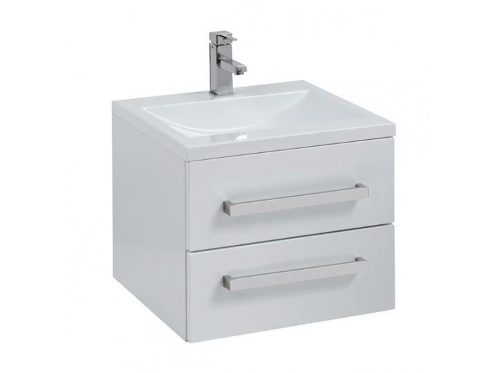 Aquatrend Gloss White Wall Hung Vanity Unit 500mm image