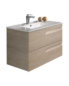 Vitale Natural Stone Wall Hung Vanity Unit 1000mm & Square Basin