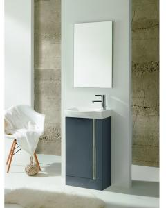 Royo Elegance Floorstanding Cloakroom Unit Pack Gloss Grey