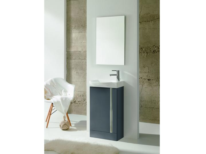 Royo Elegance Floorstanding Cloakroom Unit Pack Gloss Grey image