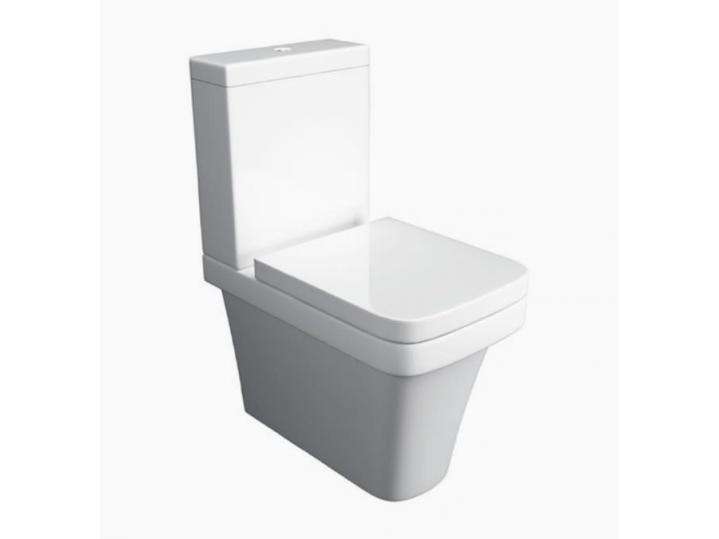 Sicily Comfort Height WC Pan, Cistern & Soft Close Seat image