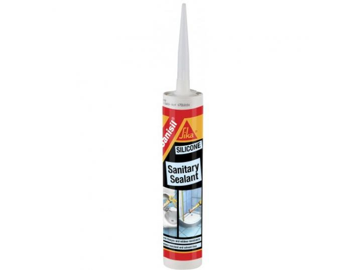 Sika Sanisil Silicone Sanitary Sealant - WHITE 300ML image