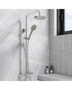 Santana Round Thermostatic Shower Kit + Bath Filler