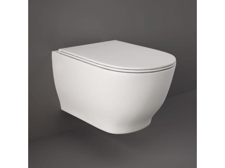 Moon Rimless Wall Hung WC With Soft Toilet Seat image