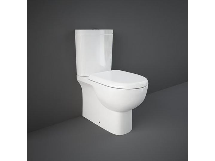 Tonique Close Coupled WC Close Back With Soft Toilet Seat image