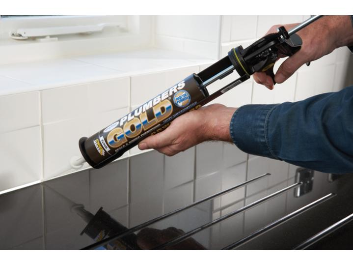 Everbuild Plumbers Gold Sealant Clear 290ML image