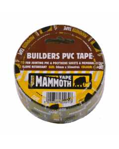 Everbuild Mammoth Builders PVC Tape Black 50MM x 33MM