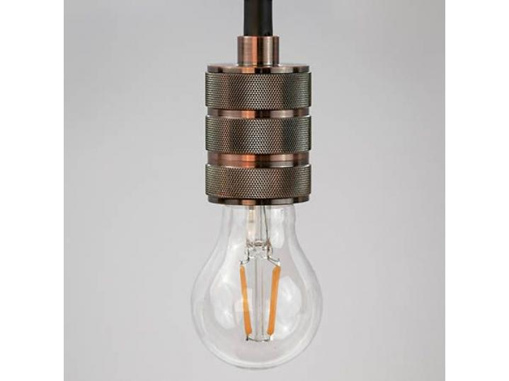 E27 Textured Pendant Light - Copper Effect image