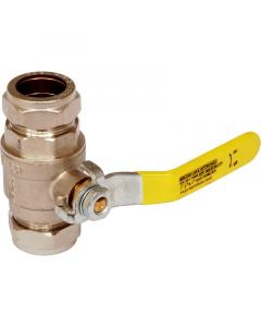Gas And Water Lever Ball Valve 28MM