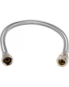 """Flexible Tap Connector 15MM x 1/2"""" 10MM Bore. 300MM"""
