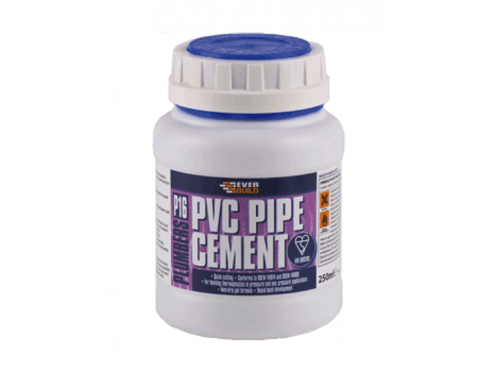 Everbuild P16 Plumbers PVC Pipe Cement 250ML image