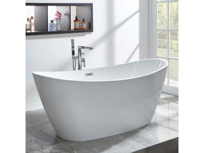 Michelle Freestanding Bath inc Chrome Overflow & Waste image