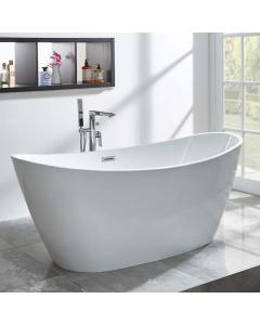 Michelle Freestanding Bath inc Chrome Overflow & Waste