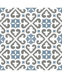 Belfast Blue 45x45cm Matt - Pattern