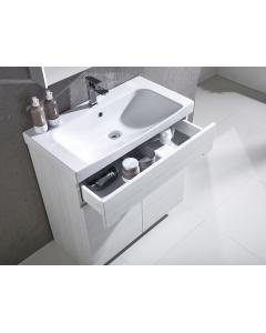 Diverge 800mm freestanding Unit Including Ceramic Basin