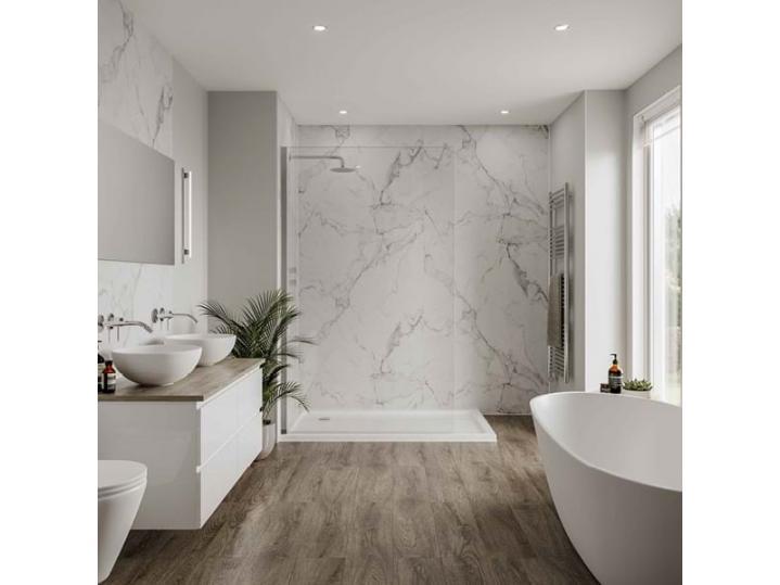 Multipanel Linda Barker Calacatta Marble - Laminated Shower Panel Board image