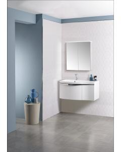 Serif 900mm Wall Mounted Unit Including Isocast Basin – Left